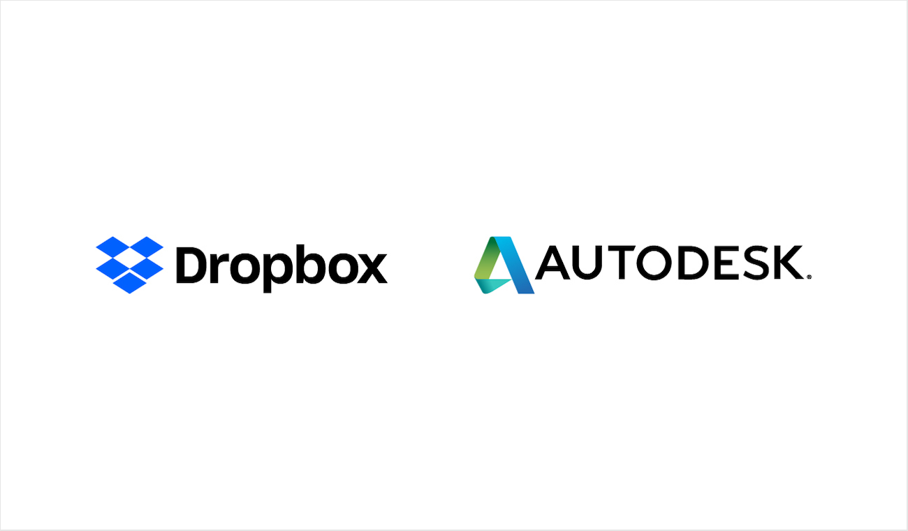 Company logos for Dropbox and Autodesk