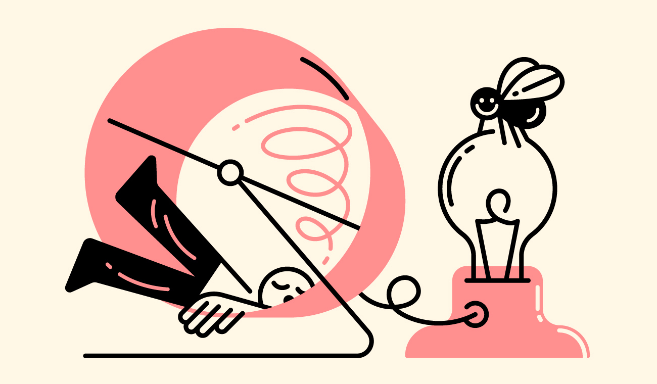 Illustration for post on productivity and creativity
