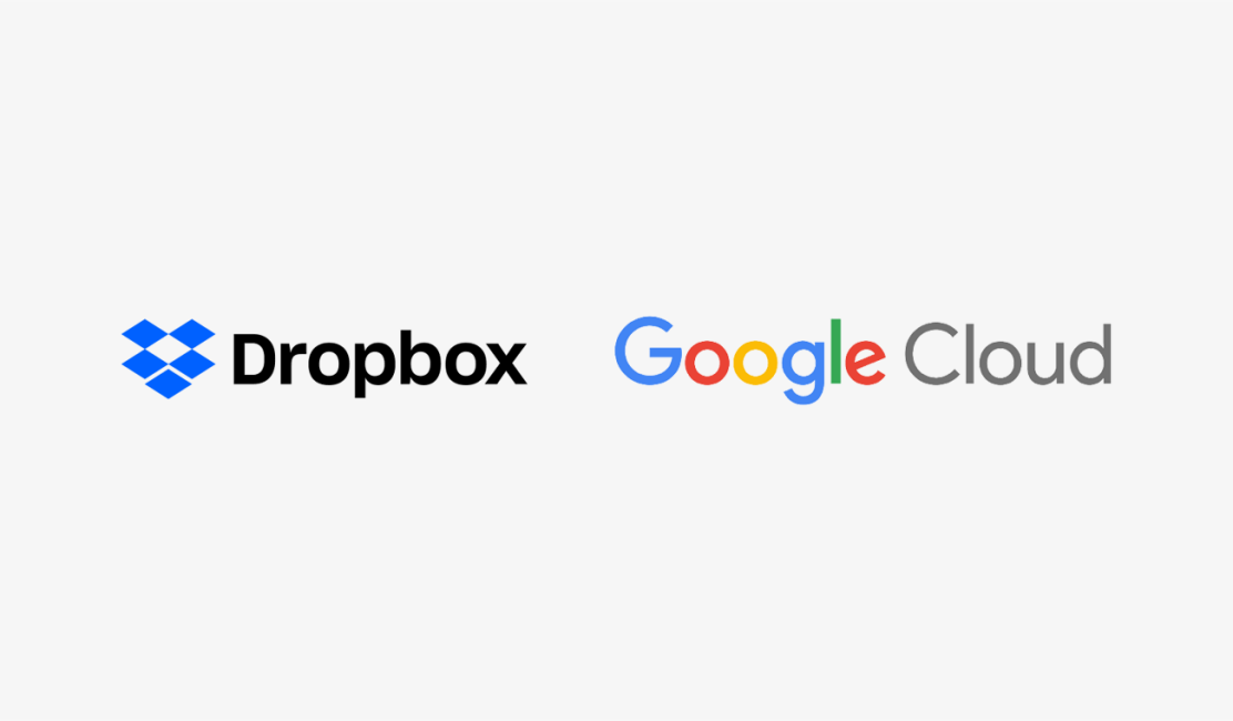 Dropbox and Google Cloud logos