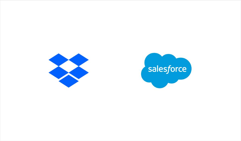 Dropbox and Salesforce logos
