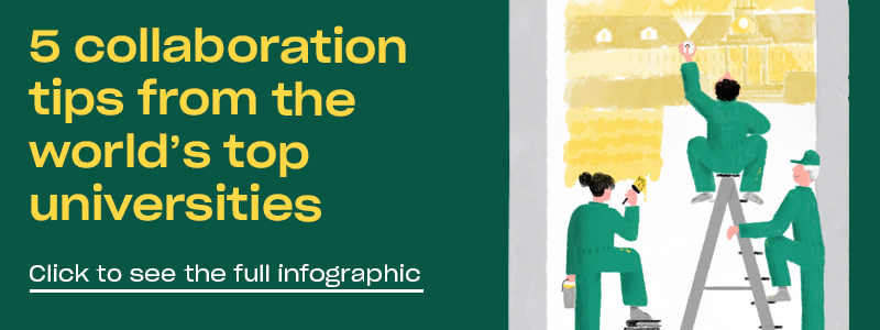 Banner for infographic on collaboration tips