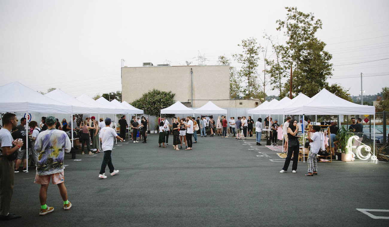 Daytime crowd at Future Classic's Vinyl Fair