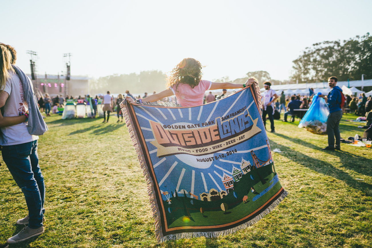 Photo of Outside Lands blanket by Jeremy Cohen