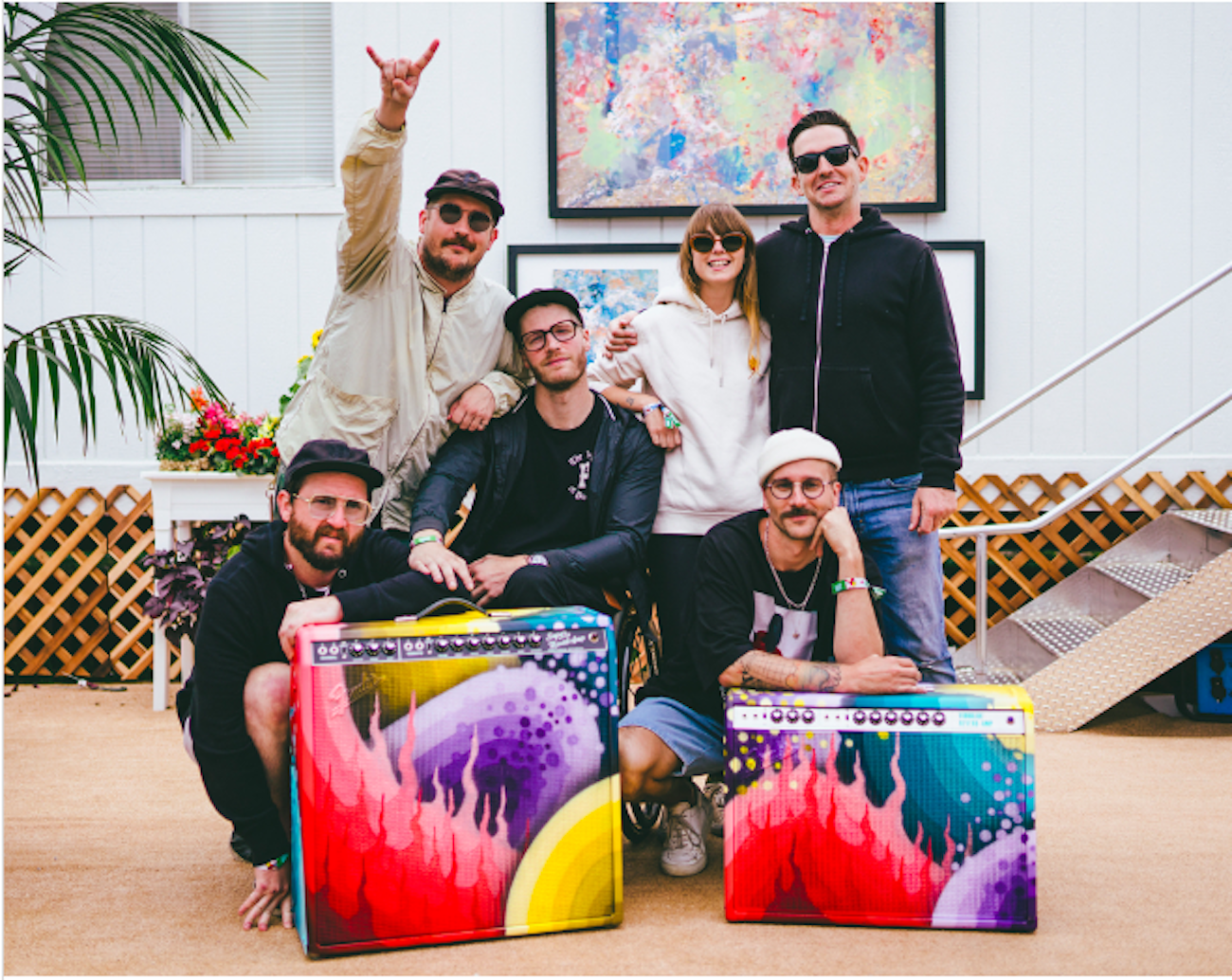 Photo of Portugal. The Man and Ricky Watts by Jeremy Cohen