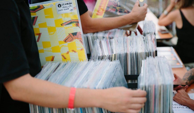 Photo of records at Future Classic's Vinyl Fair