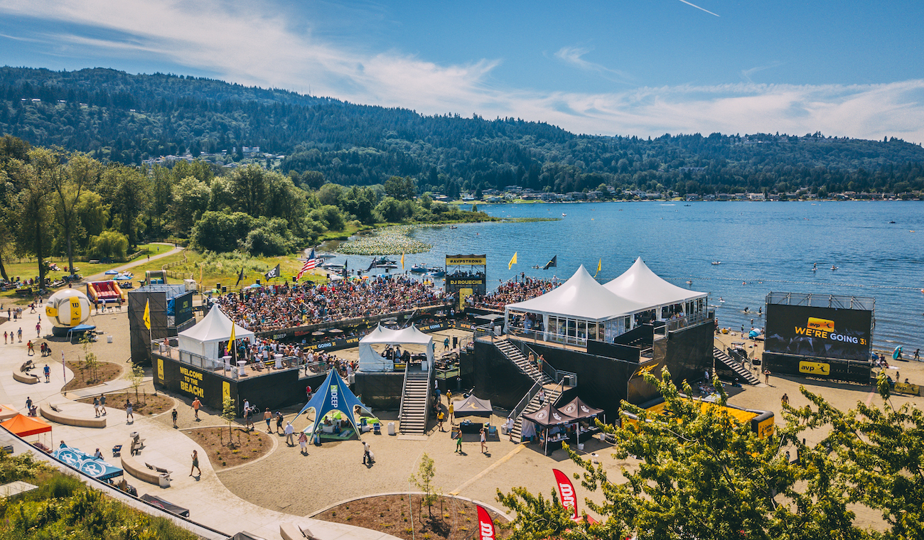 Aerial photo of AVP in Seattle