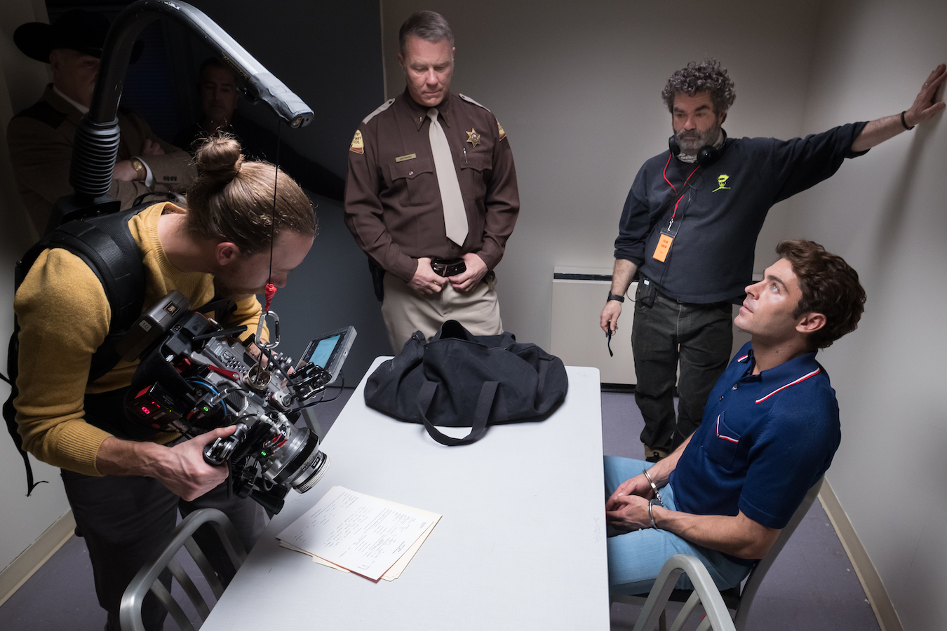Joe Berlinger on the set of Extremely Wicked, Shockingly Evil and Vile