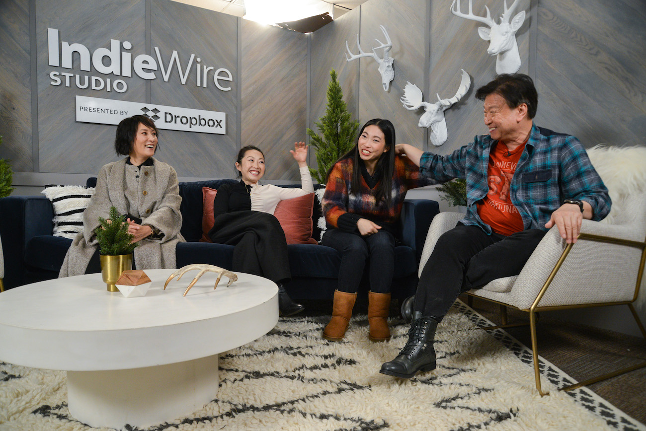 The Farewell's Diana Lin, Lulu Wang, Awkwafina, and Tzi Ma (actor). At the IndieWire Studio presented by Dropbox.