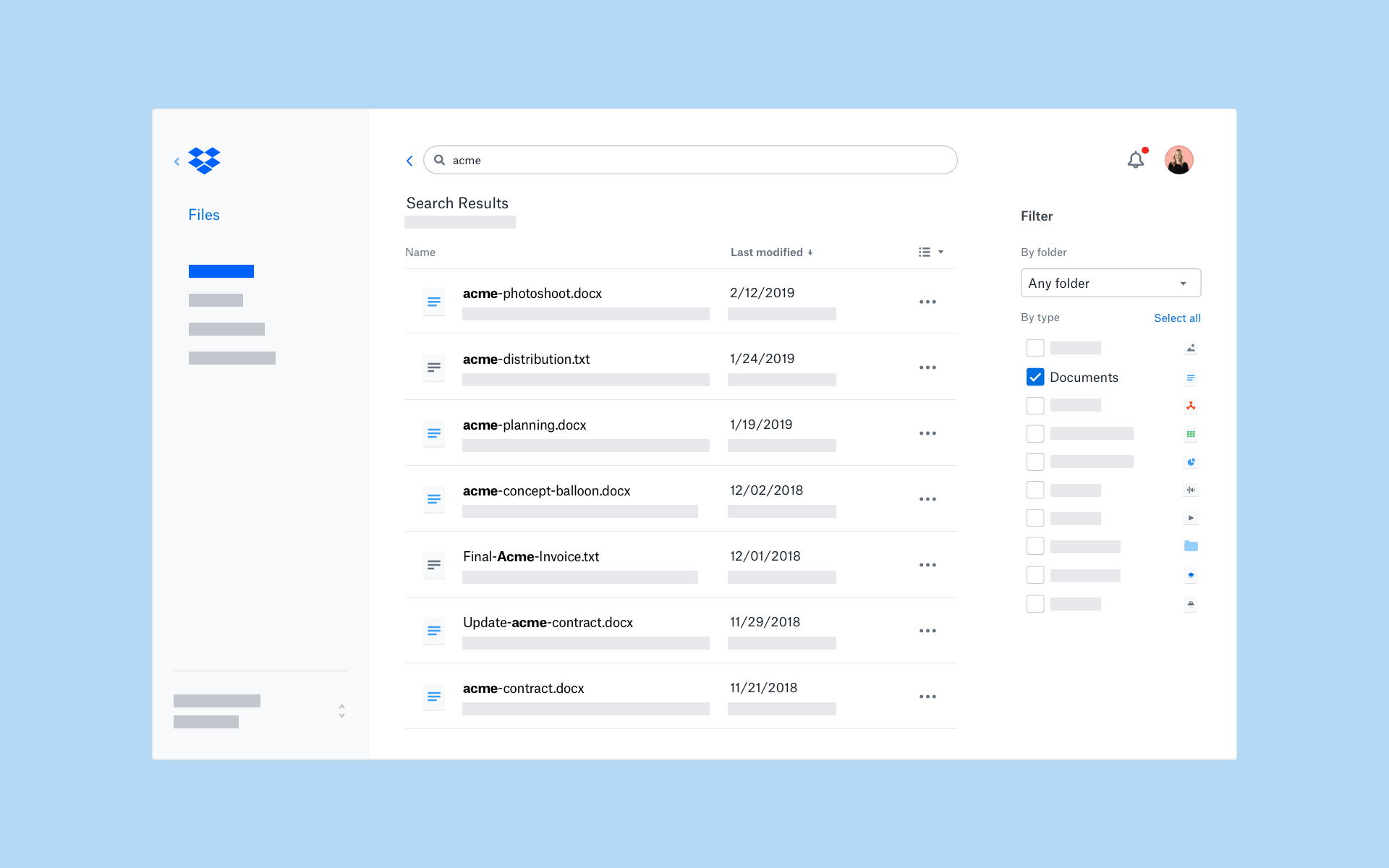 Introducing enhancements for easier, more powerful search | Dropbox Blog
