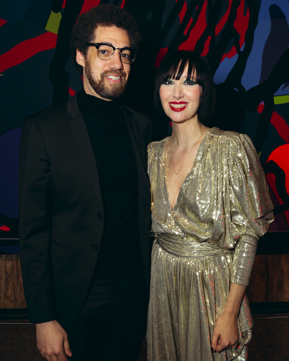 "Photo of Danger Mouse and Karen O at the private opening of ""An Encounter with Lux Prima"""