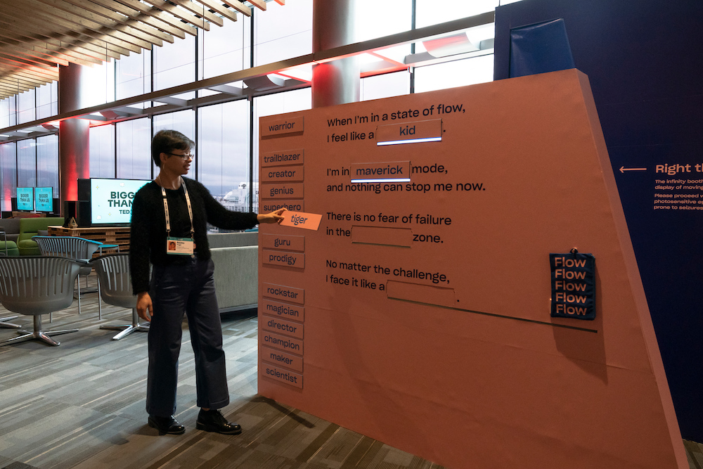 Dropbox flow board at TED2019 Vancouver