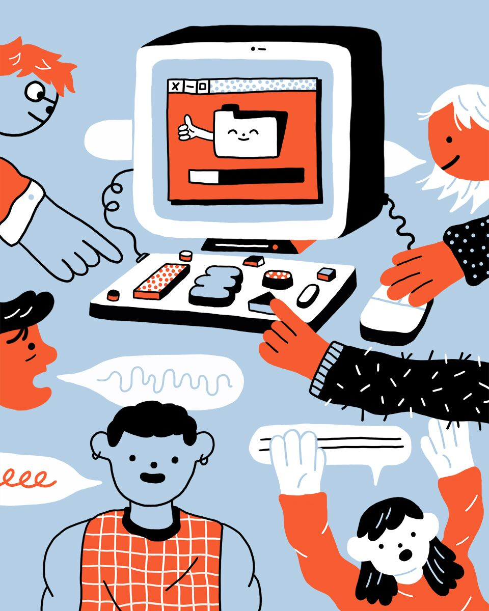 Illustration for Dropbox Community blog post by Jennifer Xiao