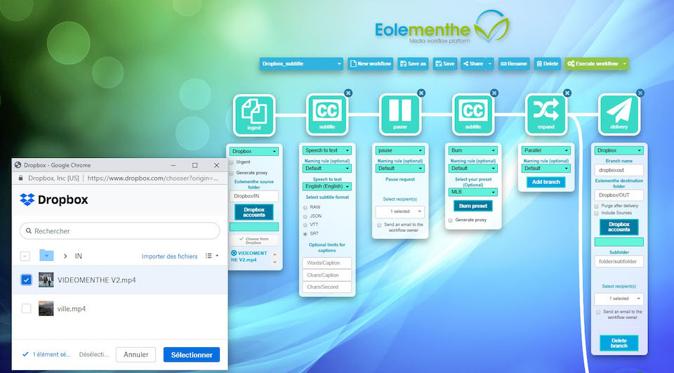 Screenshot of the Eolementhe integration by Videomenthe