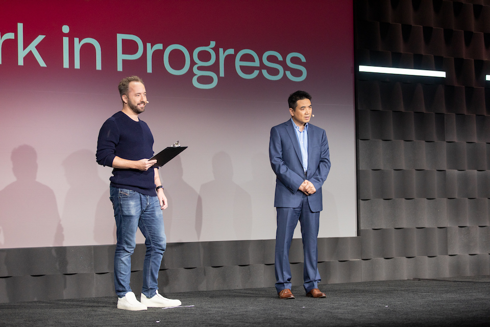 Photo of Drew Houston and Eric Yuan by Jose Prado