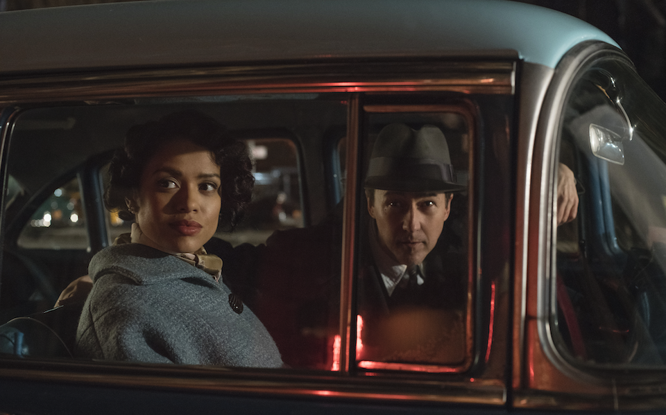 Photo of Gugu Mbatha-Raw and Edward Norton in Motherless Brooklyn