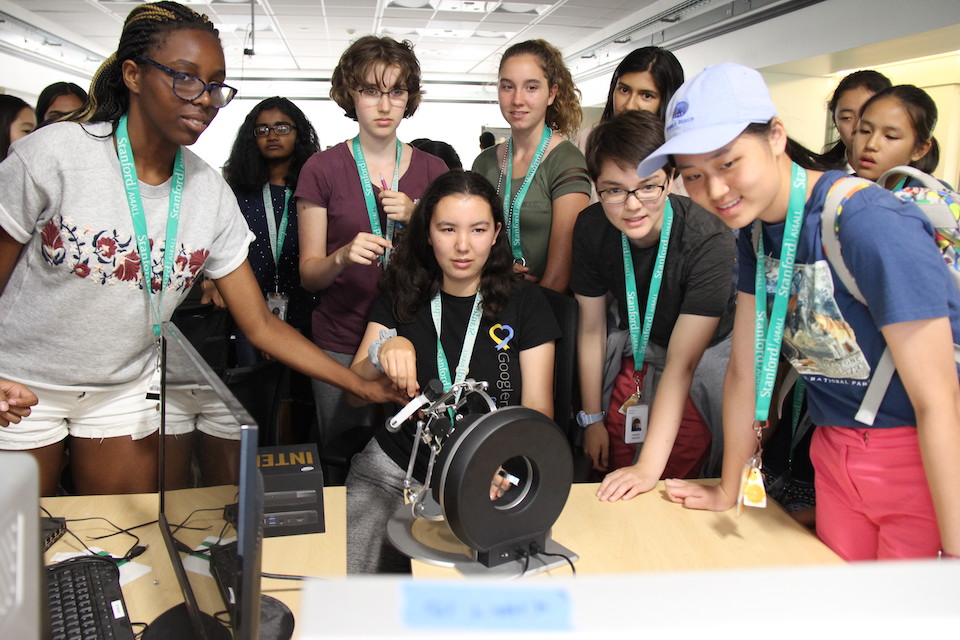 Photo of students at an AI4ALL summer camp