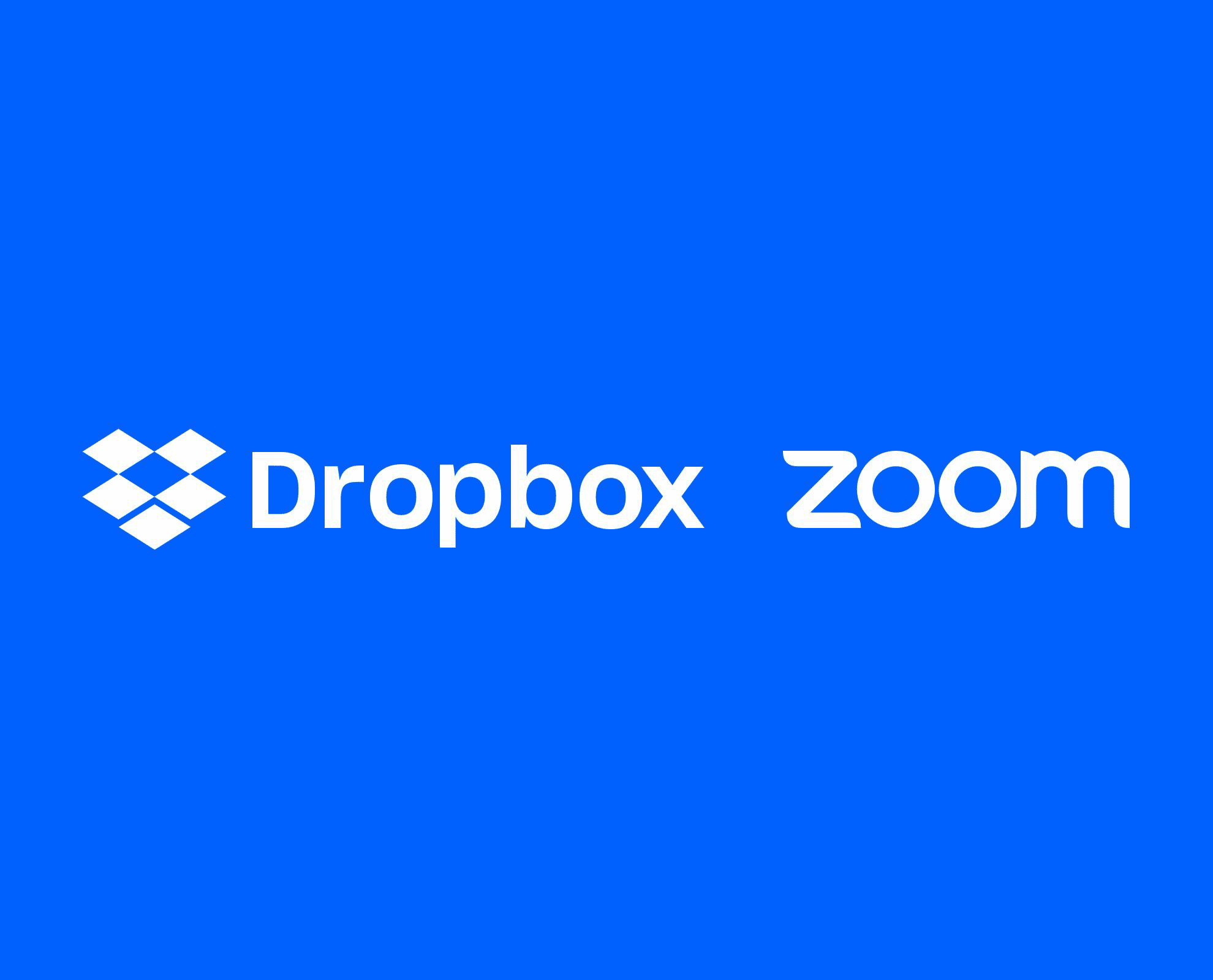 Dropbox and Zoom logos