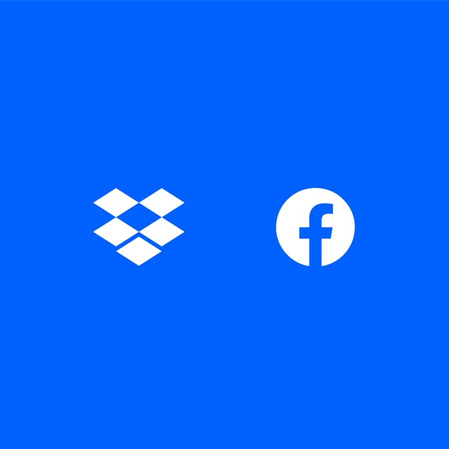 Dropbox and Facebook logos