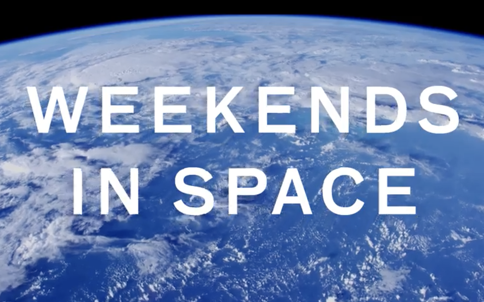 "Screenshot from the movie ""Weekends in Space"""