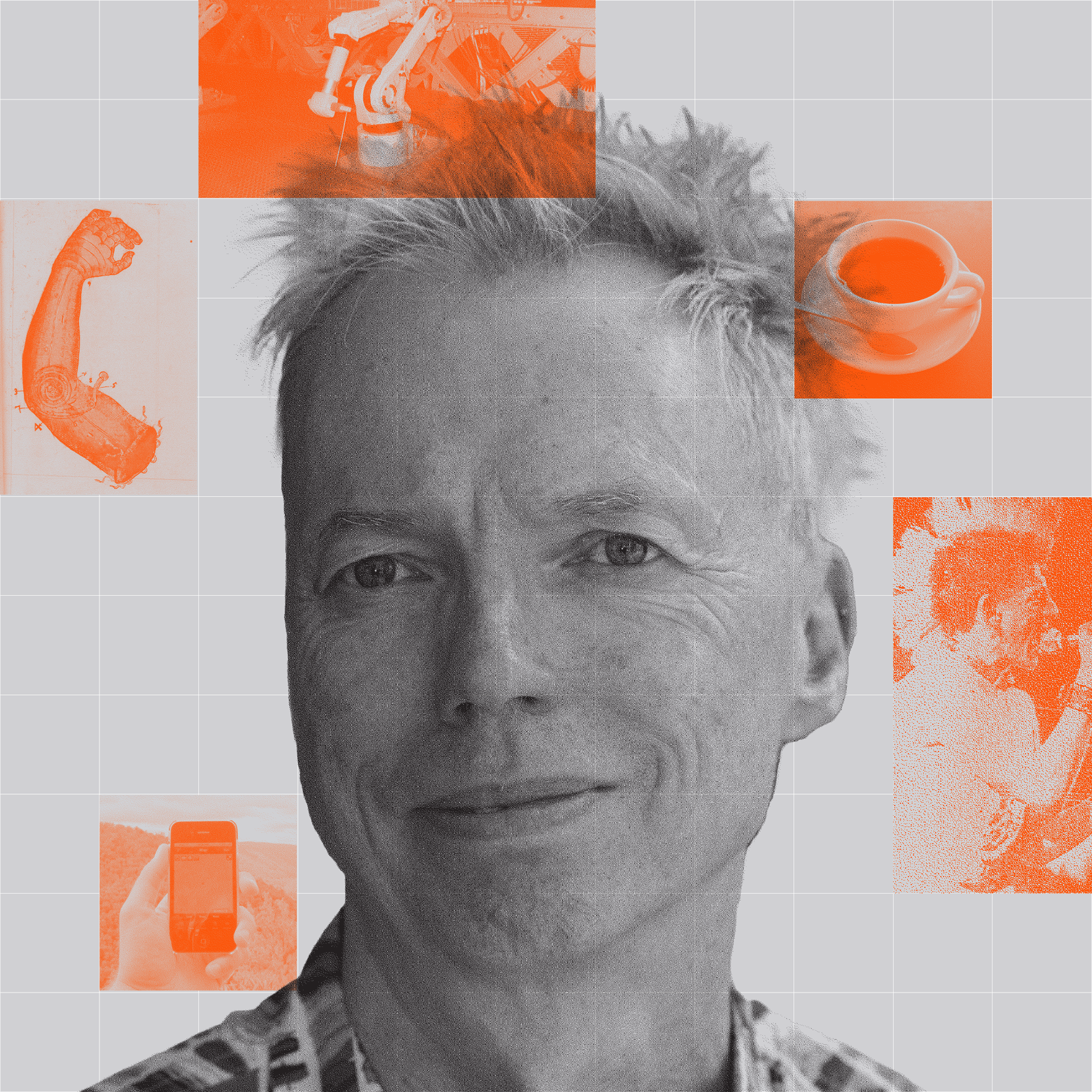 Photo-illustration of Andy Clark