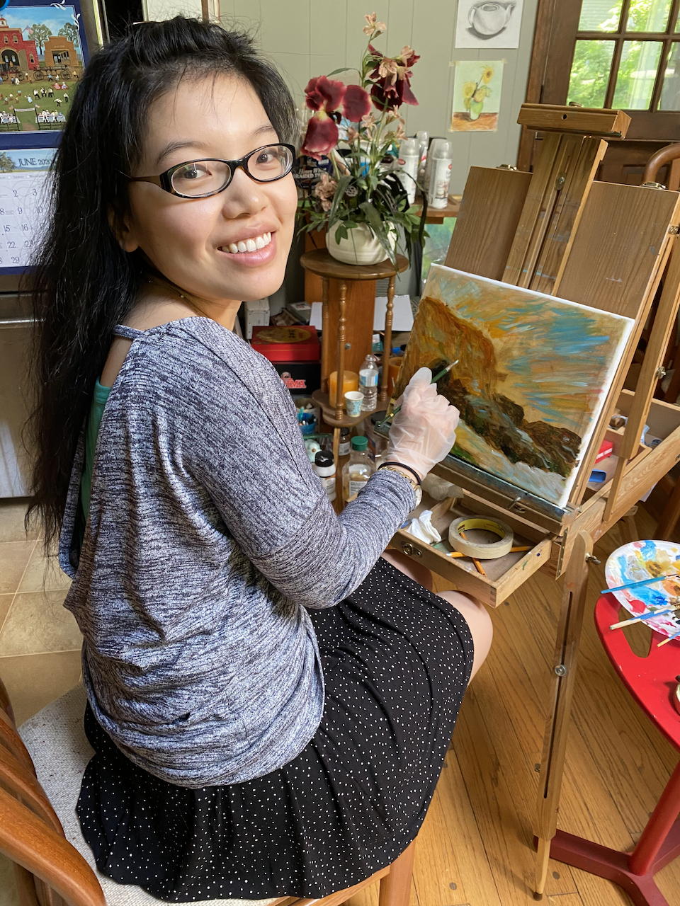 Photo of Li Jin painting