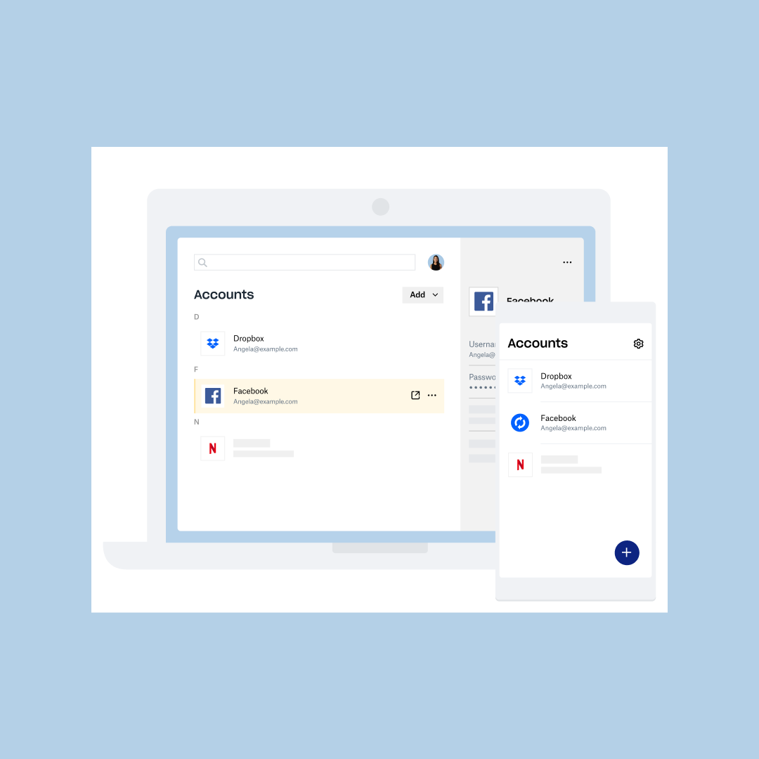 Social media and streaming service app passwords being saved in Dropbox Passwords