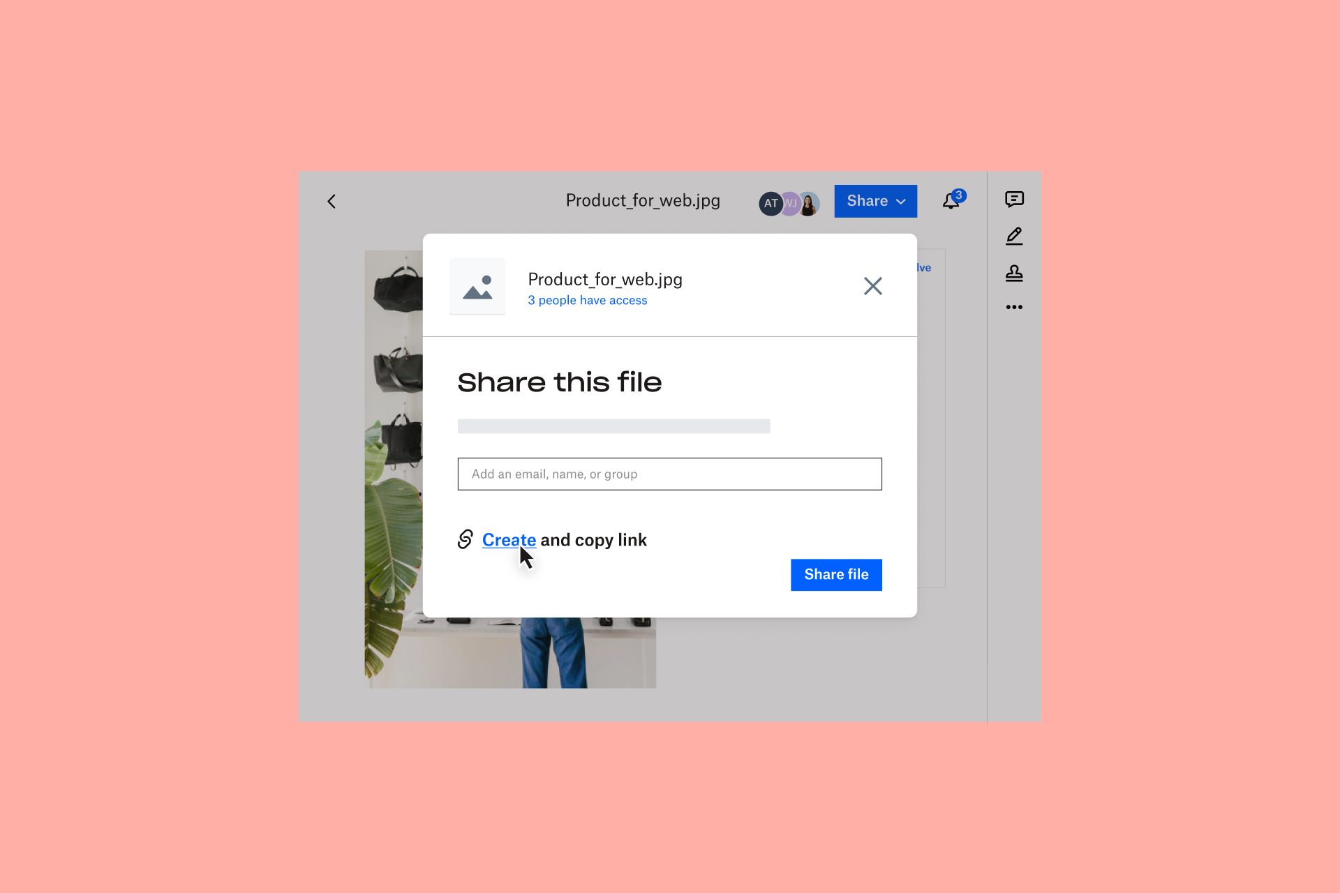 Dropbox is a collaboration which lets you create and share links