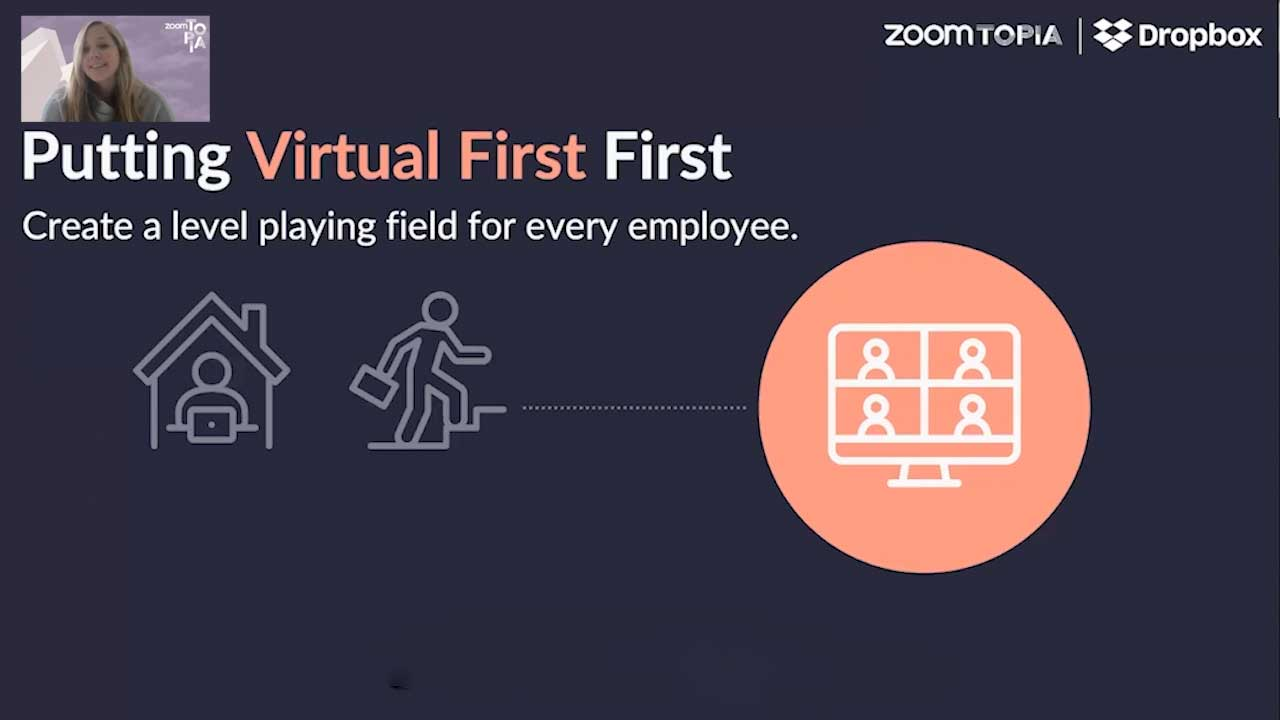 Slide from presentation entitled Putting Virtual First First