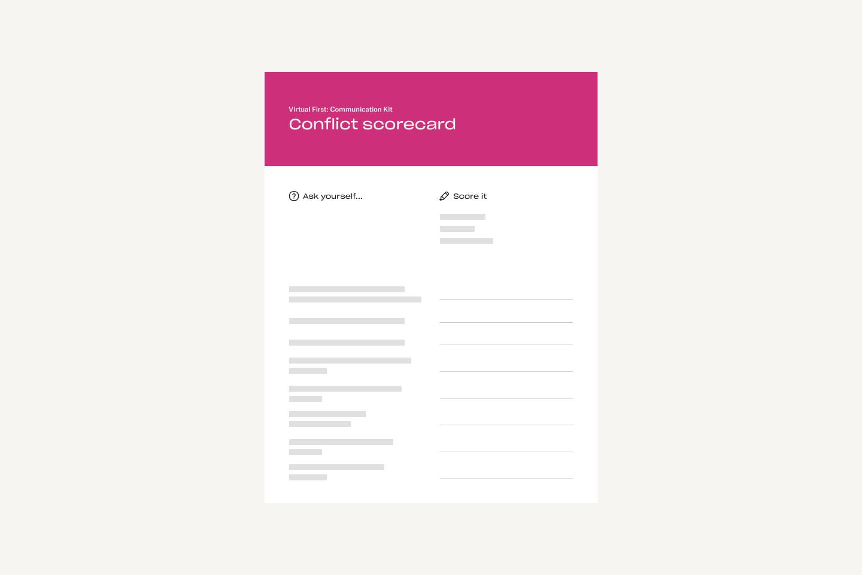 Conflict scorecard