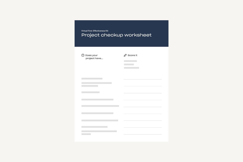 Fiche Checkup du projet