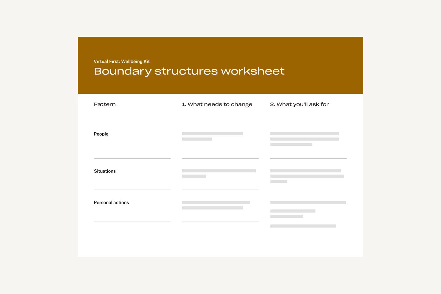 Boundary structures worksheet