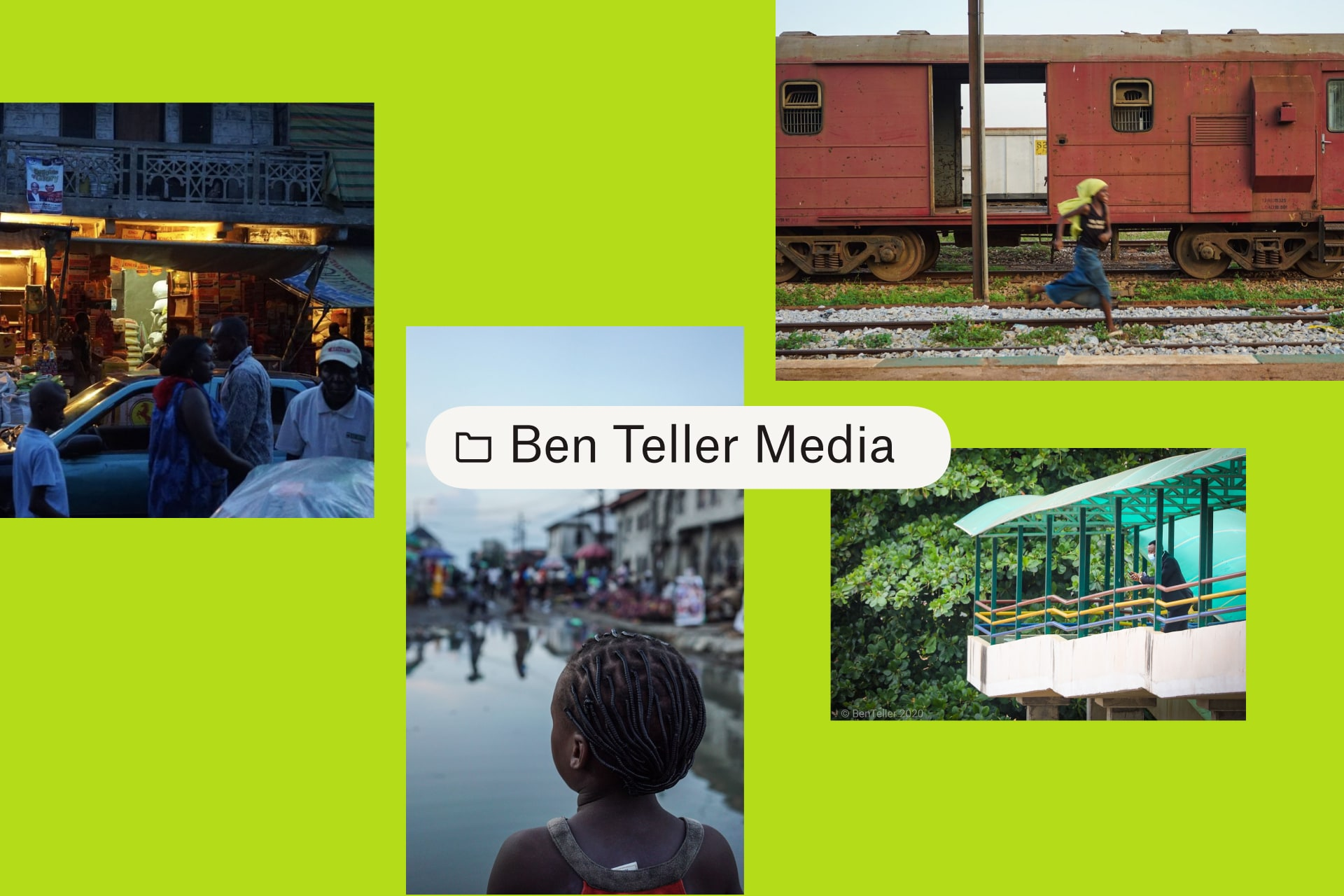 A folder titled Ben Teller Media with four images.
