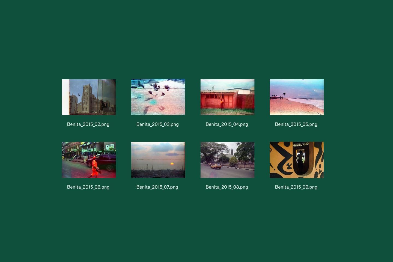 Eight photos created by Benita Nnachortam, saved in Dropbox.