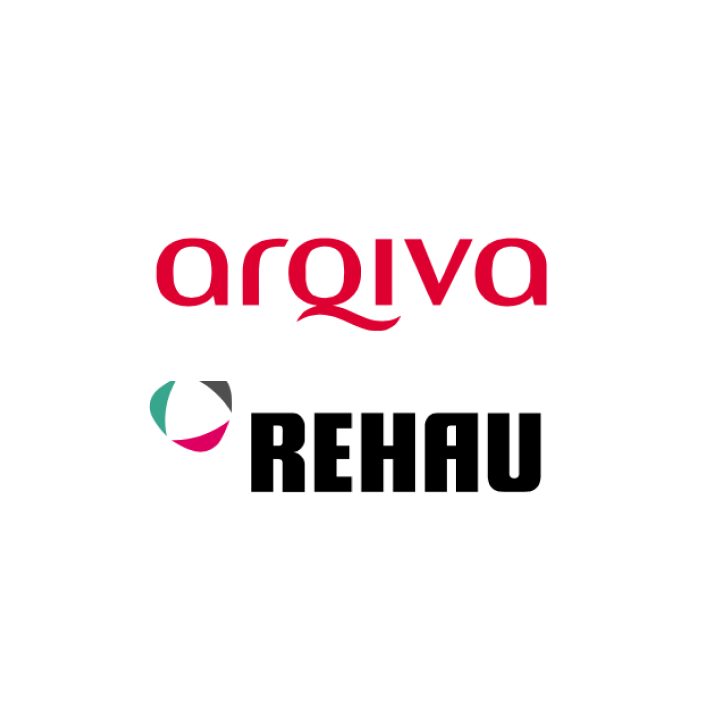 Arqiva and REHAU logos