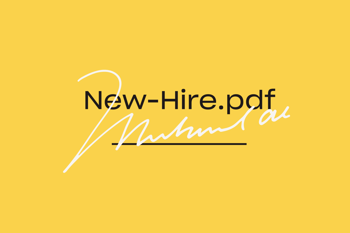 A new hire pdf is signed with an eSignature