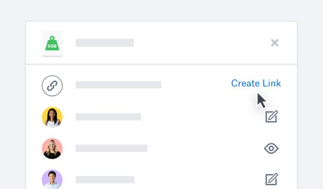 Dropbox product UI