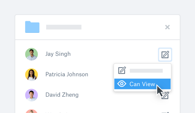 The viewing permission of a team member being updated in Dropbox Paper
