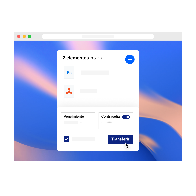 DropboxTransfer con protección con contraseñas y fechas de caducidad