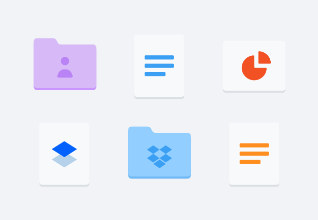Organizing files and folders with Dropbox