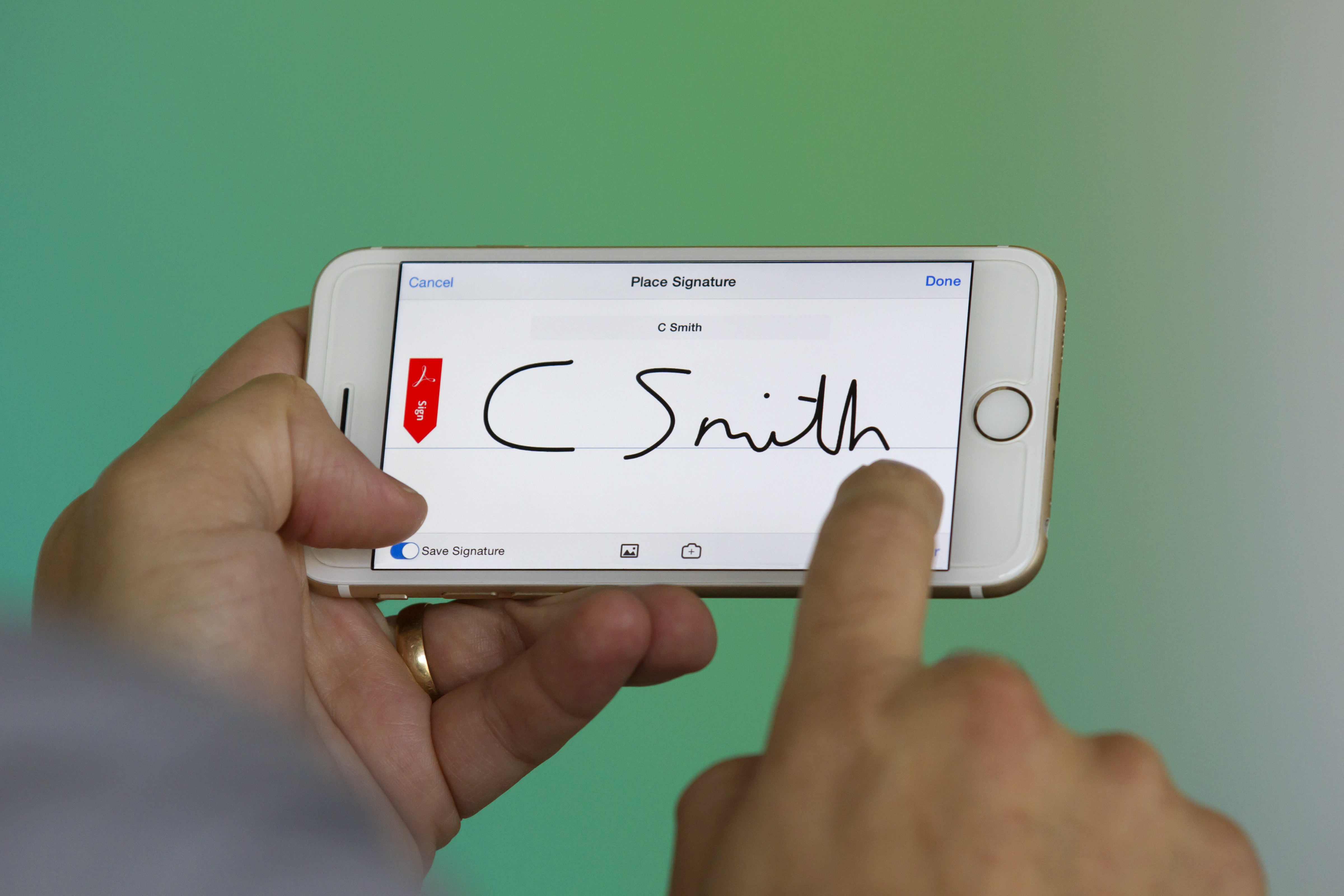 eSignature on mobile