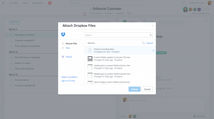 Asana screenshot 3