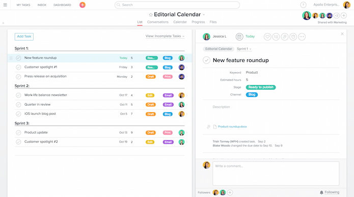Asana screenshot 4