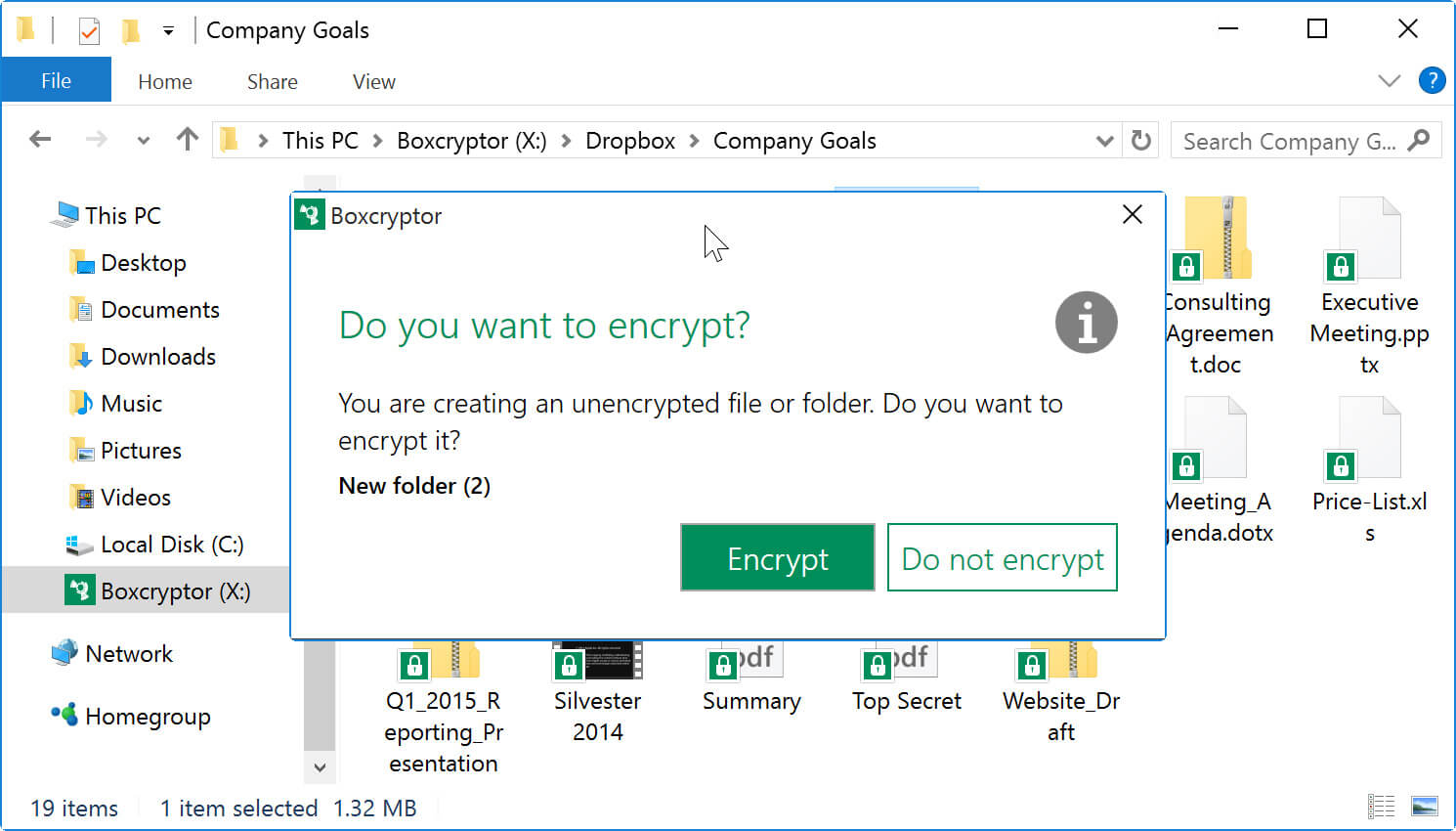 Boxcryptor screenshot 1