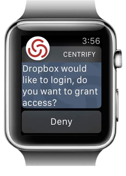 Centrify op Apple Watch