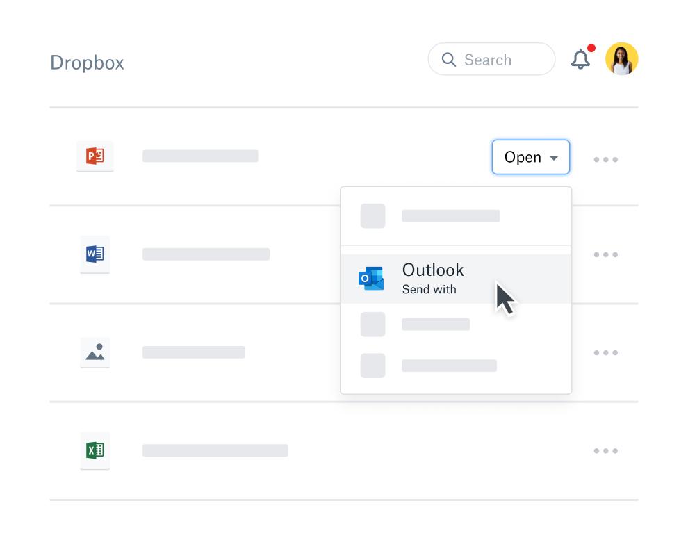 Outlook dropbox plugin