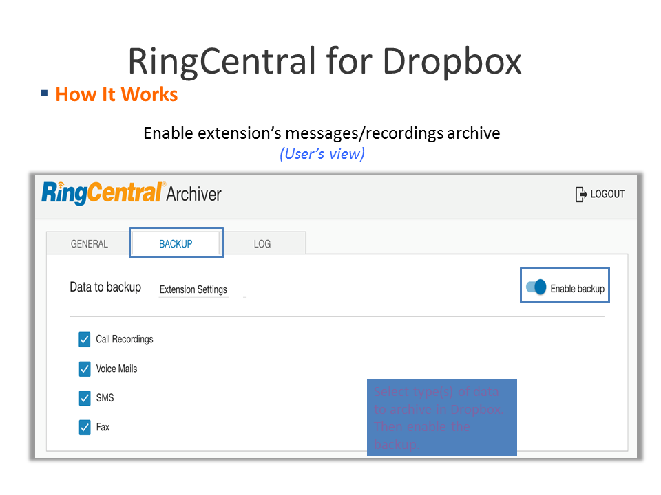 Screenshot RingCentral 5
