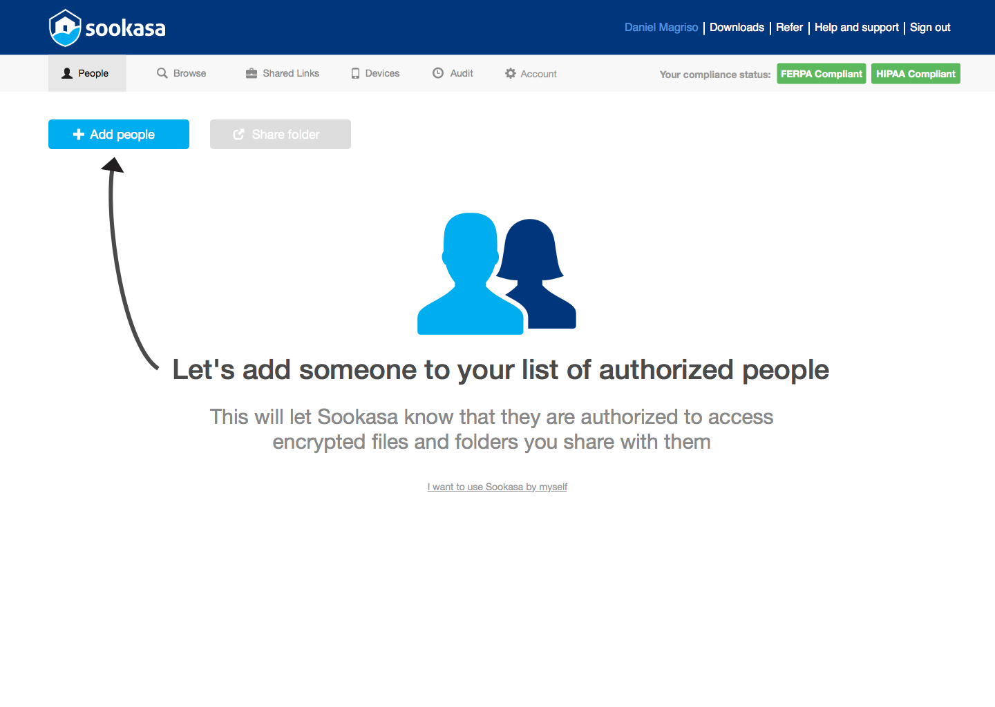 Add secure collaborators with Sookasa
