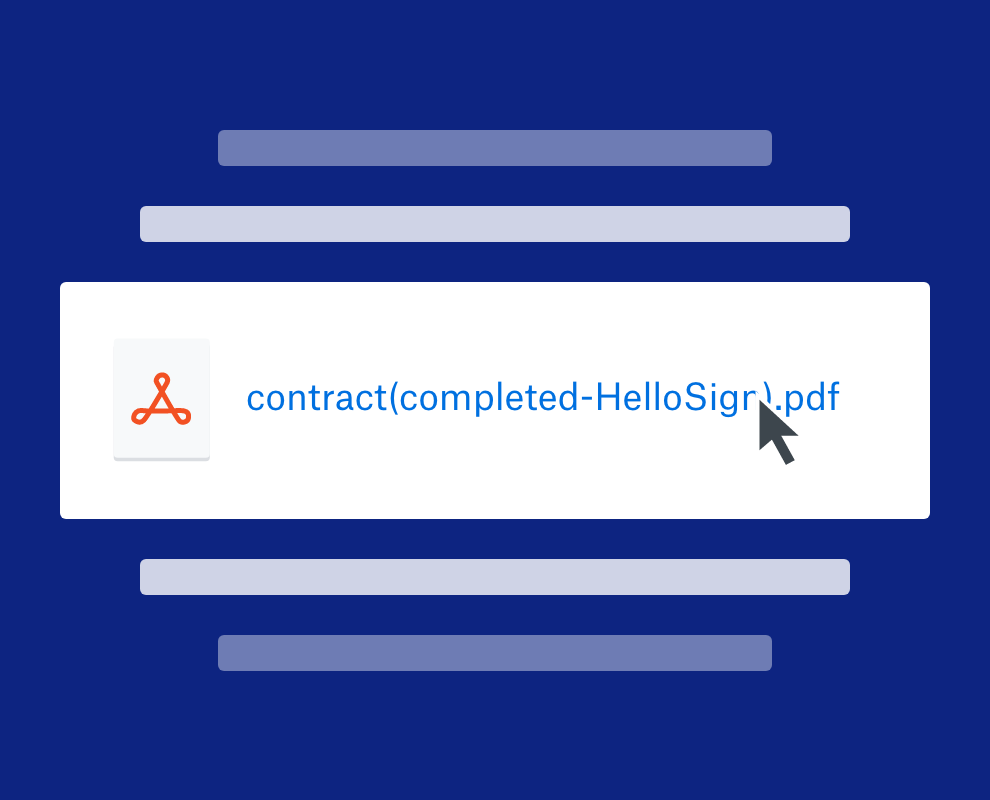HelloSign document in Dropbox