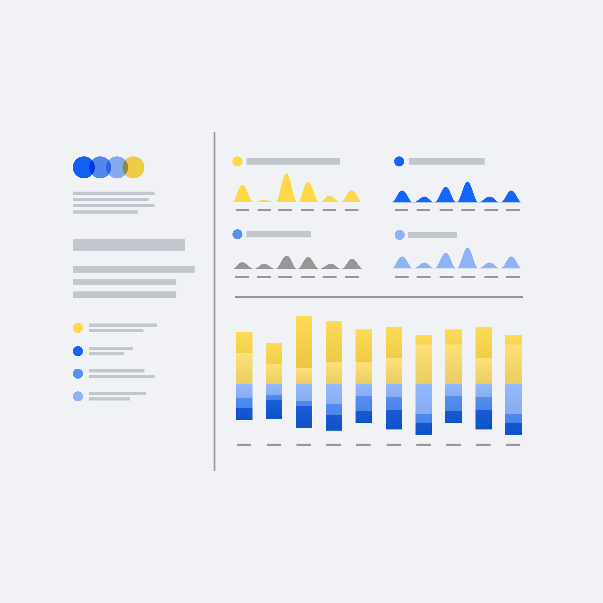 An example data dashboard