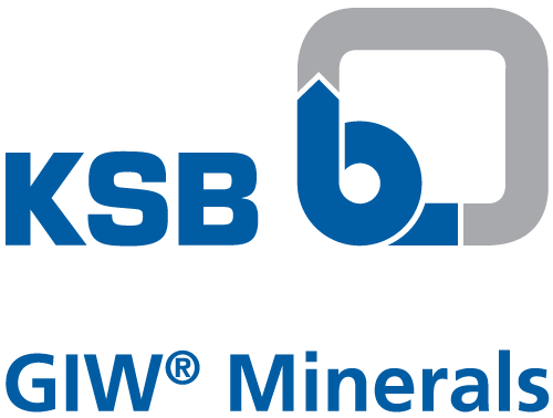 KSB logo with GIW Minerals name underneath